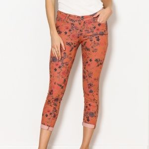 Dear John Floral Suki Cropped Jeans